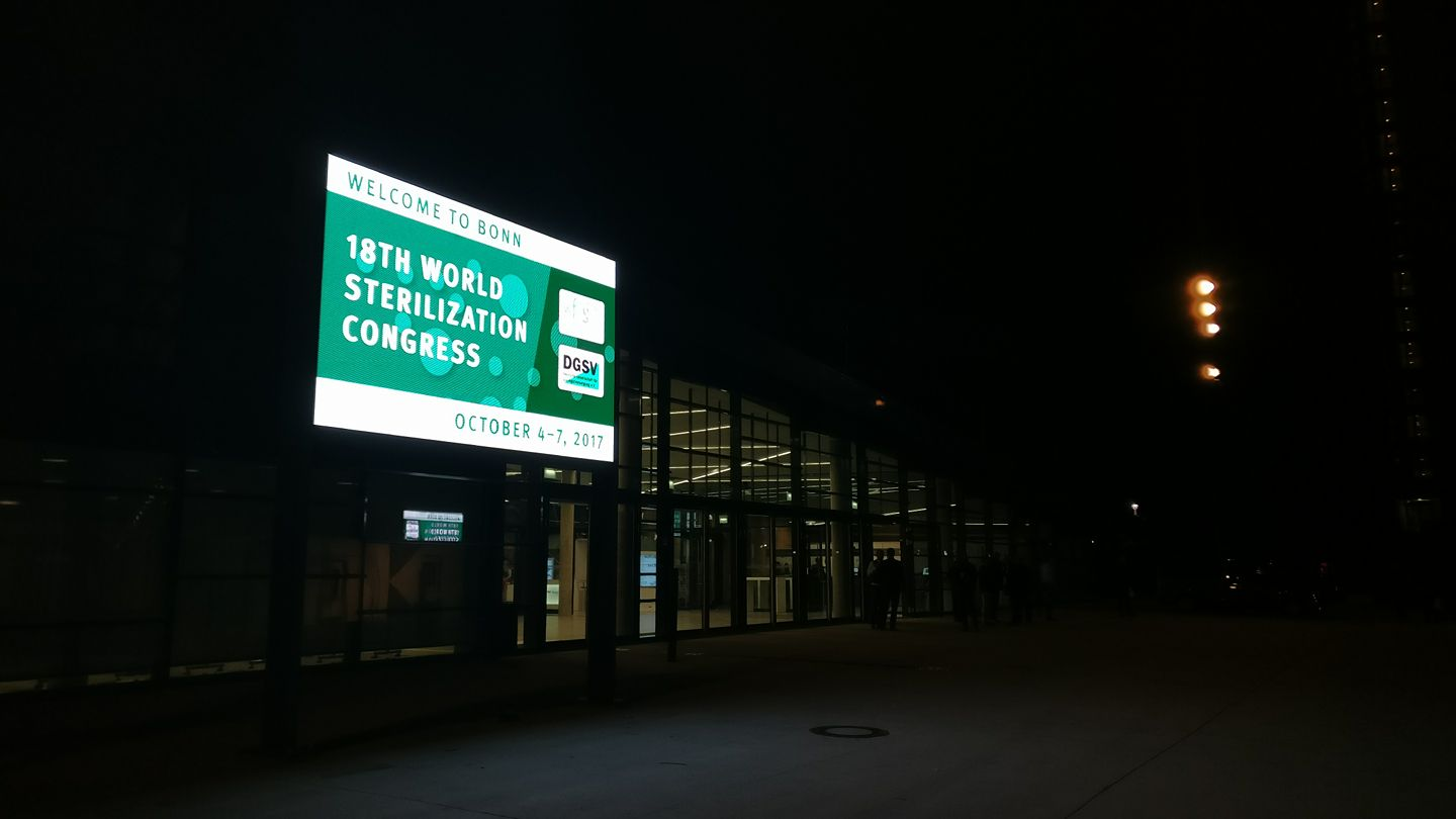 World Sterilisation Congress Bonn 2017 welcome billboard